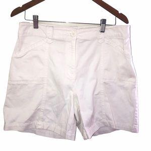 Lady's white shorts- size 12
